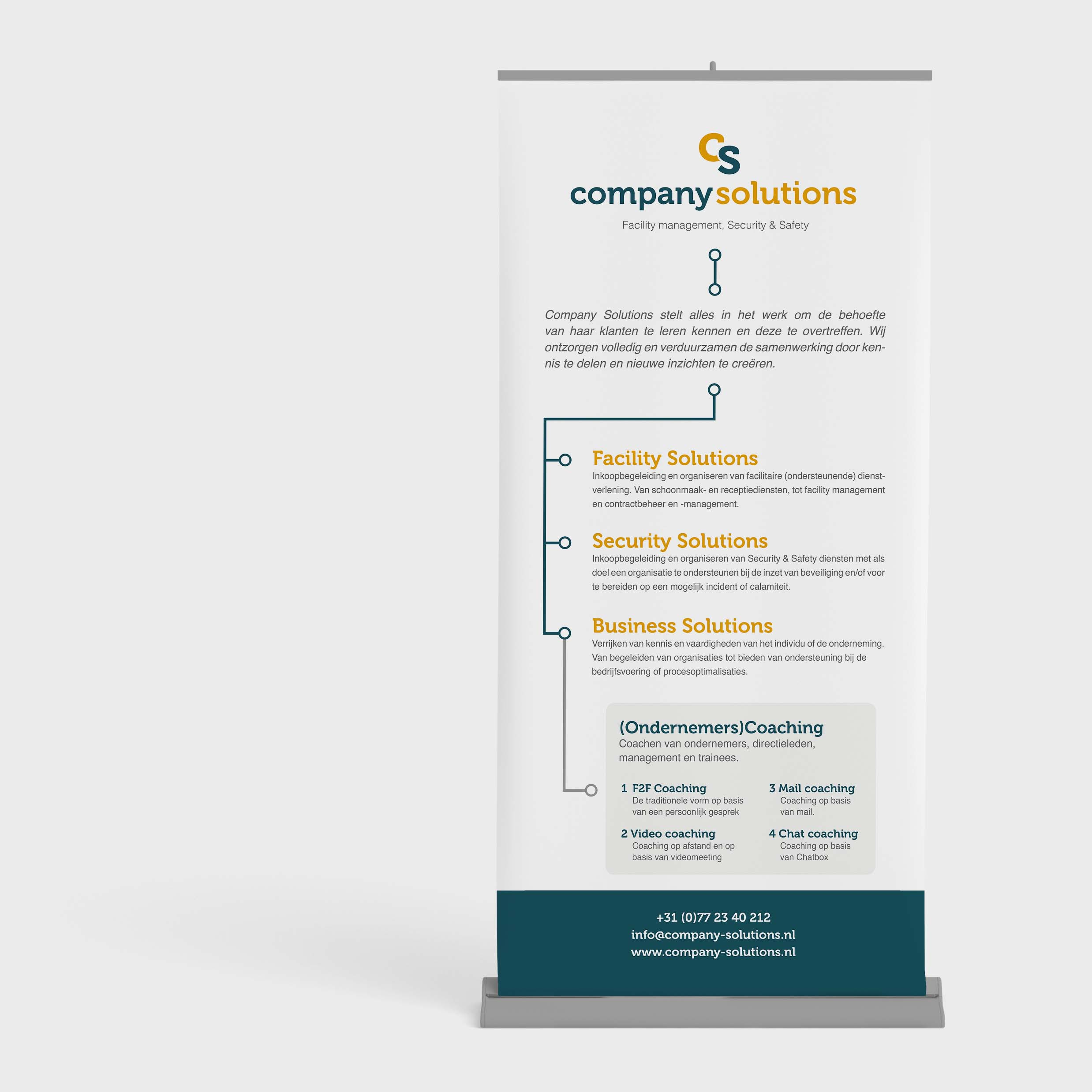 Company Solutions | Roll up banner